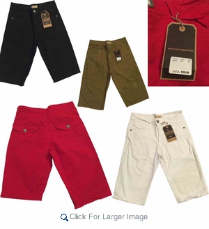 Wholesale Access Fray Bottom Color Shorts w/Roll-Up - $14.50/pc - M-ACC-3533 - Click to enlarge