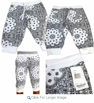 Wholesale Akademiks Bandana Capri Joggers - $13.50/pc - Click to enlarge