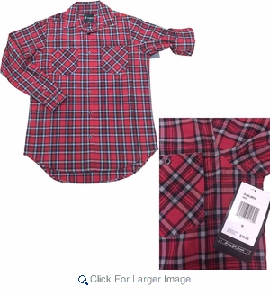 Wholesale Akademiks Men's Plaid 3/4 Roll Sleeve Shirts - $9.50/pc - M-AKD-1W04 - Click to enlarge