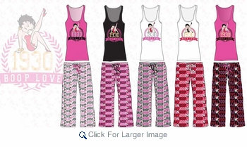 Wholesale Betty Boop Capri Tank Top Sets - $9.50 - Click to enlarge