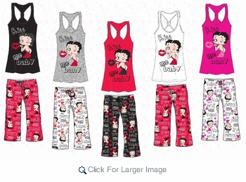Wholesale Betty Boop Pant Sets - $9.50 - Click to enlarge