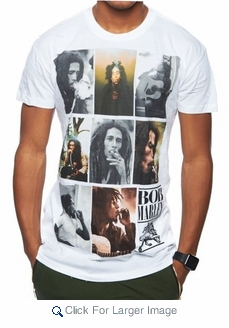 Wholesale Bob Marley Graphic Tees - $8.50/pc - Click to enlarge