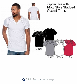 Wholesale Fashion Zipper shirts - $13.50/pc - M-TRK-1VEN-1105 - Click to enlarge