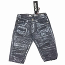 Wholesale Foil Painted Denim Shorts - $22.50/pc