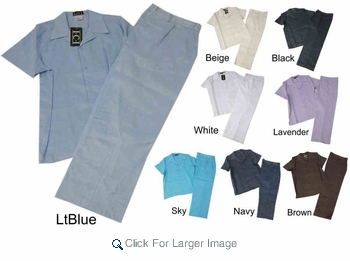 Wholesale Linen-Feel Walking Suits - M-ICI-5000-6 - $30.50/Set - Click to enlarge