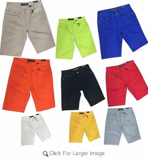 Wholesale Maximilian Fashion Color Shorts - M-MAX-3000 - $13.50/pc - Click to enlarge
