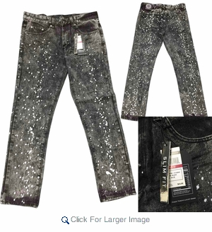 Wholesale Men's Fashion Jeans - $21.50/pc - M-MAX-204A-BK - Click to enlarge