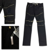 Wholesale Men's Fashion Moto Zipper Ripped Jeans - $23.50/pc.