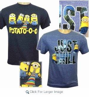 Wholesale Minions Graphic Tees - Assorted- $4.50/pc - Click to enlarge