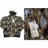 Wholesale Printed Hoodie Fleece Zip Down Jackets - M-BTL-1460-BK - $10.50