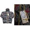 Wholesale Printed Hoodie Fleece Zip Down Jackets - M-BTL-1462-BK - $10.50
