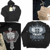 Wholesale Printed Hoodie Fleece Zip Down Jackets - M-BTL-1472-BK - $12.50