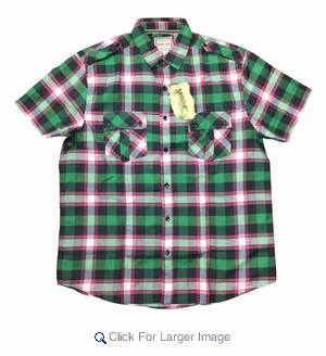 Wholesale Rogue Plaid Shirts - $7.50/pc - Click to enlarge