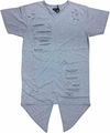 Wholesale Short Sleeve Rip Accent Shirts - $14.50 - M-SWI-1STT-GY