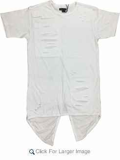 Wholesale Short Sleeve Rip Accent Shirts - $14.50 - M-SWI-1STT-WT - Click to enlarge