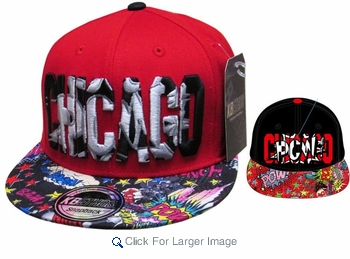 Wholesale Snapback Hats - Chicago - Click to enlarge