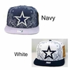Wholesale Star Embroidered Snapback Hats - $5.00/pc. - A-JOY-0528-ST