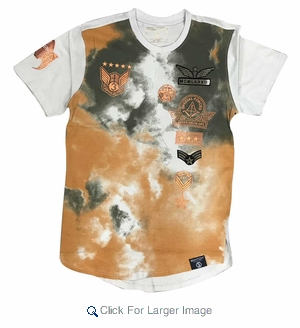 Wholesale Switch Skyrider Military Patch Tees Olive White - M-SWI-1SKY-OLWT - Click to enlarge