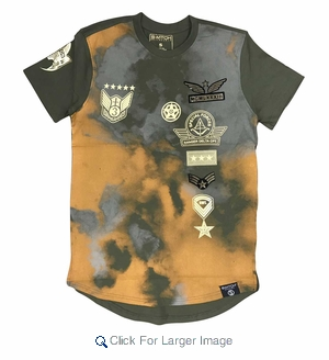 Wholesale Switch Skyrider Military Patch Tees Olive Yellow - M-SWI-1SKY-OLYE - Click to enlarge