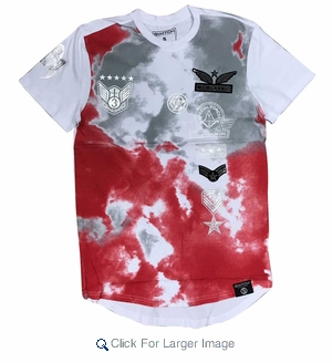 Wholesale Switch Skyrider Military Patch Tees Red Grey - M-SWI-1SKY-RDGY - Click to enlarge