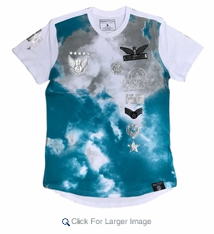 Wholesale Switch Skyrider Military Patch Tees White Blue - M-SWI-1SKY-WTBU - Click to enlarge