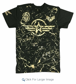 Wholesale Switch Starwings Military Patch Tees Olive - M-SWI-1STW-OL - Click to enlarge
