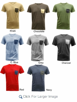 factory outlet good selling limited guantity Wholesale Victorious V-neck Tees - Embellished Pocket