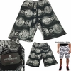 Wholesale Victorious French Terry Knit Money Seal Print Shorts - $8.50/pc - M-VCT-3418-BK