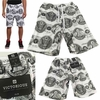 Wholesale Victorious French Terry Knit Money Seal Print Shorts - $8.50/pc - M-VCT-3418-WT