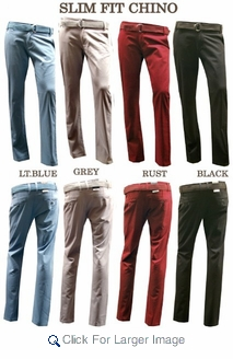 Wholesale Victorious - Slim Fit Belted Chino Pants - Click to enlarge