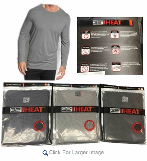 Wholesale Weatherproof 32 Degree Heat Thermal Shirt - $7.50/pc - Click to enlarge