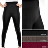 Women's one-size cable knit leggings - $3.90/pc