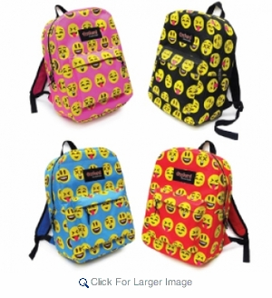 Youth Novelty Backpacks - All Over Emojis - $5.00 - Click to enlarge