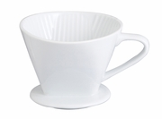 #4 Filter Cone - White Porcelain
