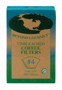 #4 Unbleached Coffee Filters - 100 Count