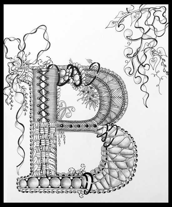 Canceled - Apr 28 - Zentangle: Illuminated Letters with Cathy Boytos