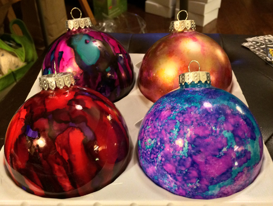 Dec 2 - Alcohol Ink Ornaments with Jane Steelman
