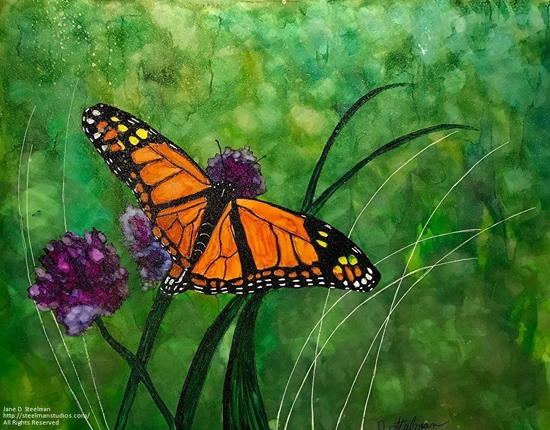Feb 25 - Alcohol Inks: Brushing Up On Butterflies with Jane Steelman