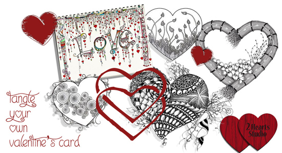 (Canceled) Feb 3 - Zentangle: Valentine's Cards with Cathy Boytos