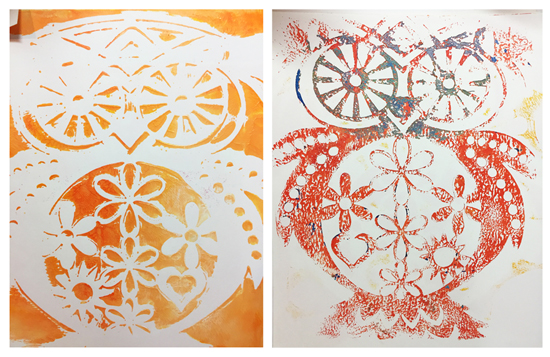 Sunday, Oct. 8th - Festive Fall Gelli Plate Prints with Lukas Acrylics