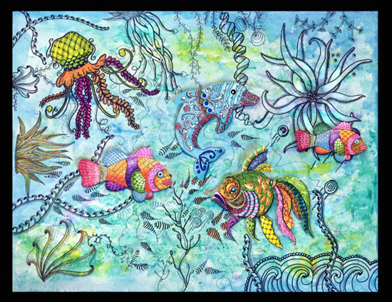 June 16 - Zentangle: Under the Sea with Cathy Boytos