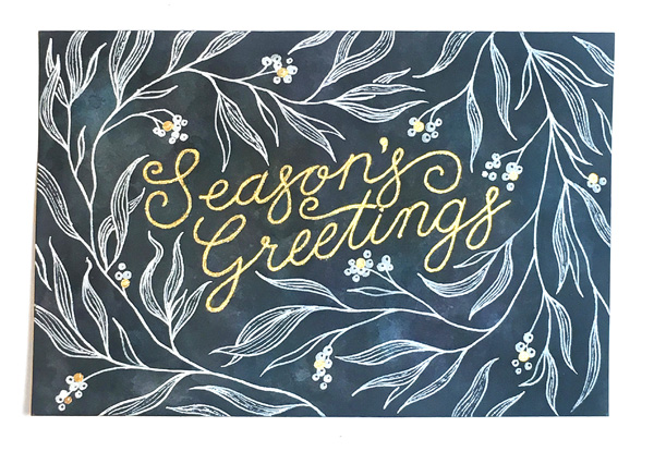 Saturday, Dec. 16th - Hand Lettering Your Holiday Cards with Shelby Bass