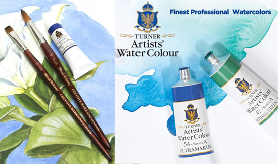 Sunday, Apr 30th - Turner Watercolor and Mimik Kolinsky Brushes
