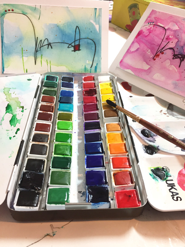 Sunday, Dec. 10th - Lukas Watercolor Holiday Cards with Ophelia Staton