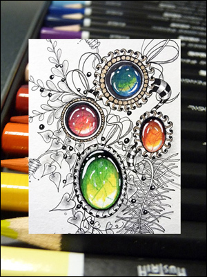 Sunday, July 2nd - SoHo Colored Pencils and Zentangle with Cathy Boytos