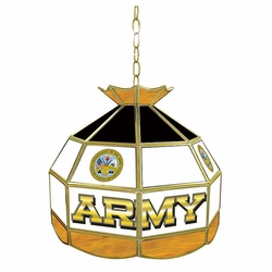 "16"" Army Stained Glass Tiffany Lamp"