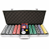 500 15g Clay Laser Las Vegas Chip Set w/ Aluminum Case