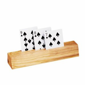 "9"" Wood Card Holder"