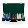 Big City Casino 300 Striped Dice Poker Chip Set - Black Case