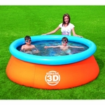 Blue Wave Splash & Play 3D Adventure 7 Ft. Fast Set Family Pool